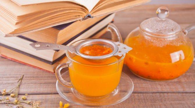Корисний чай з обліпихи