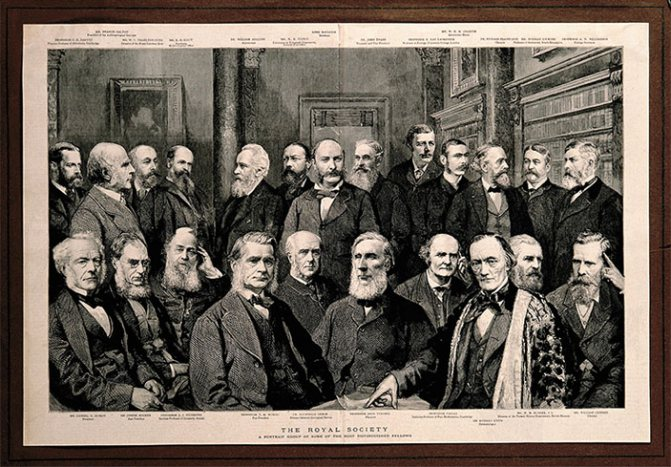 Портретна група найвідатнішіх діячів лондонський королівського товариства ( «Наука З першого рук» №3 (83), 2019)