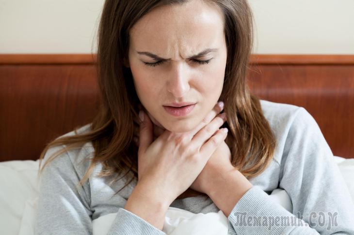 Постійна слиз в горлі - причини і лікування