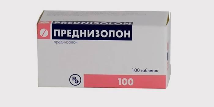 «Преднізолон» для лікування тріщин на мові
