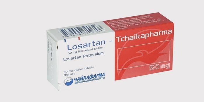 Препарат Лозартан в упаковці