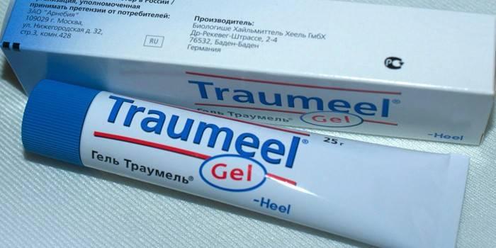 Препарат Траумель гель в упаковці