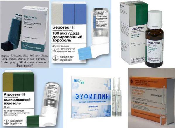 Препарати для лікування бронхіальної астми