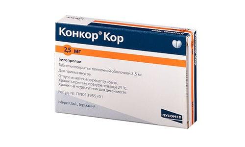 При ХСН рекомендується застосовувати препарат Конкор Кор з меншою концентрацією бісопрололу