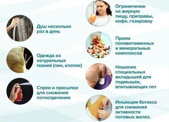 Причини і лікування сильної пітливості пахв у жінок. Як усунути пітливість народними засобами