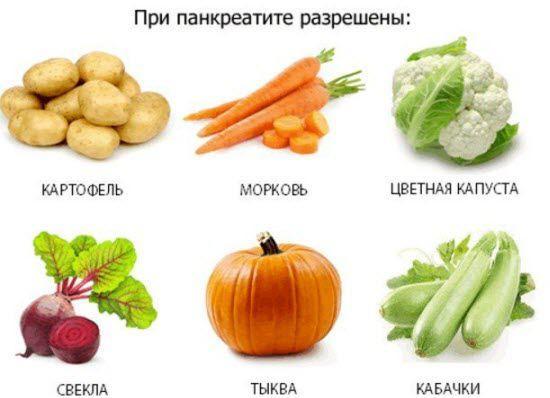 Дозволені овочі при панкреатиті