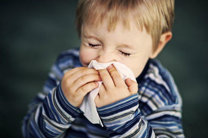 дитина застуджений