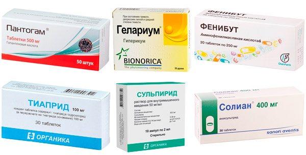рекомендовані ліки при тиках: Пантогам, Фенибут, тіаприд і ін.