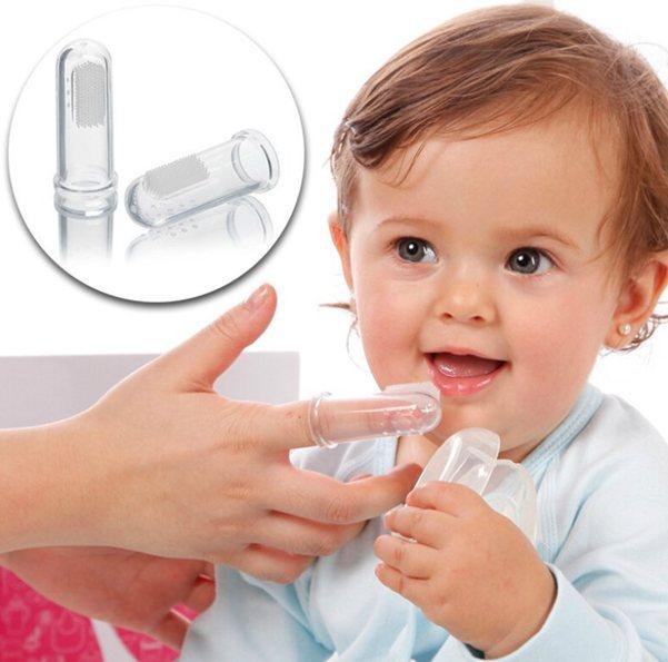 Силіконова зубна щітка напальчнік