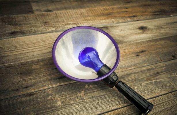синя лампа