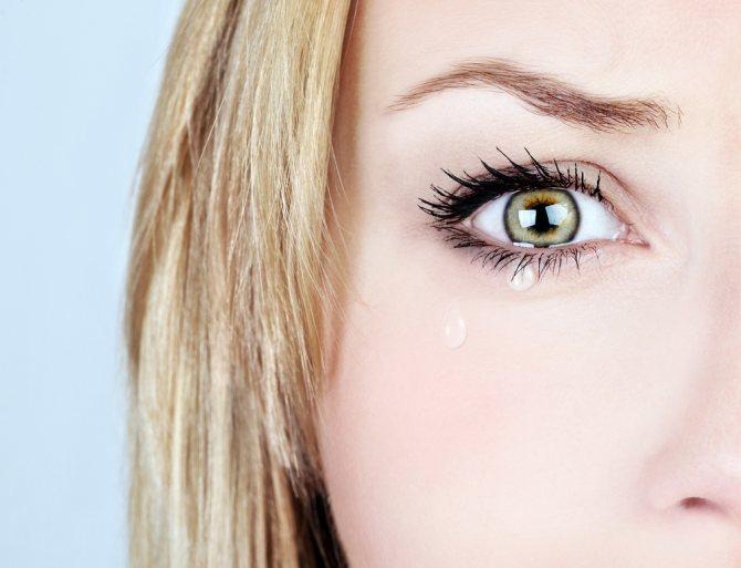 сльозотеча очі