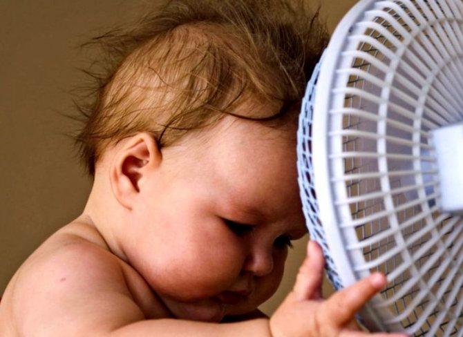 Сонячний удар у дітей грудного віку