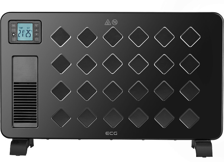 Современный конвектор ECG TK-2040-DR-black с дисплеем (товар магазина https://yavshoke.ua/)