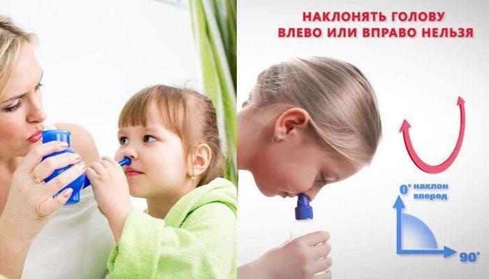 Способи промівання носа