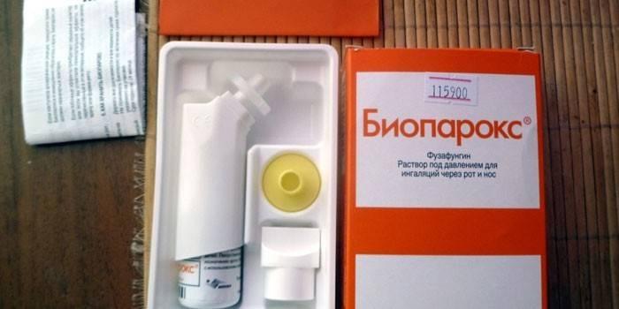 Спрей Биопарокс в упаковці
