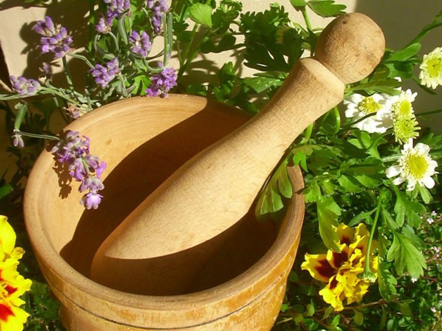 Серед народних засобів використовується велика кількість рослин у вигляді мазей, компресів, розтирань, примочок, а деякі з них можна приймати всередину
