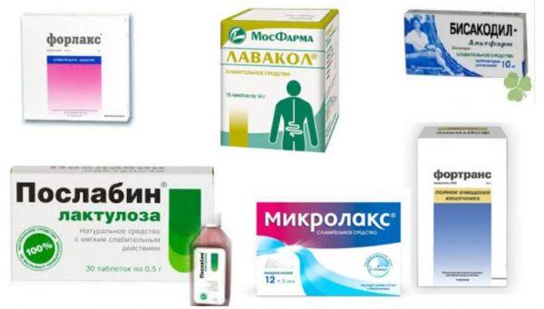 Засоби для очищення кишечника