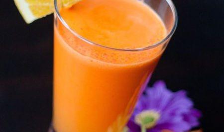 Засіб від печії будинку - морквяний сік