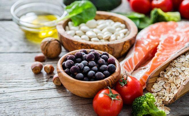 Стейк ласося з овочами