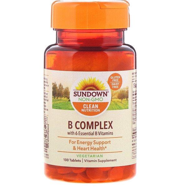 Sundown Naturals, Комплекс В, 100 таблеток