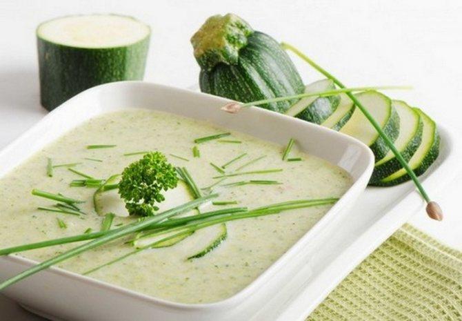 Суп з кабачками