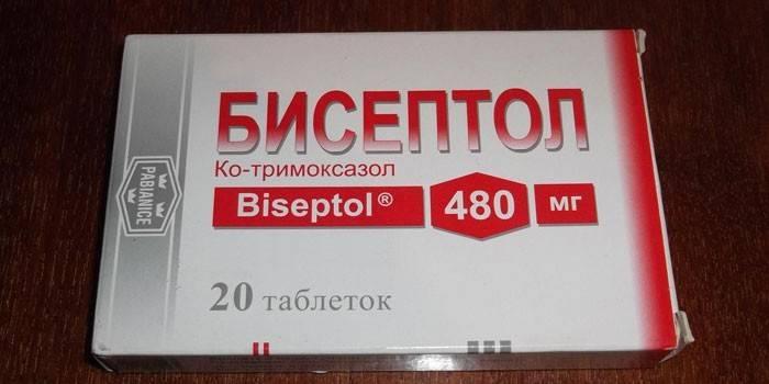 Таблетки Бісептол в упаковці