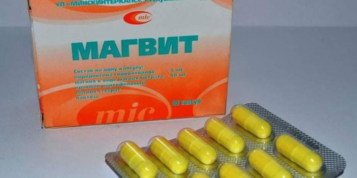 Таблетки Магвіт в упаковці