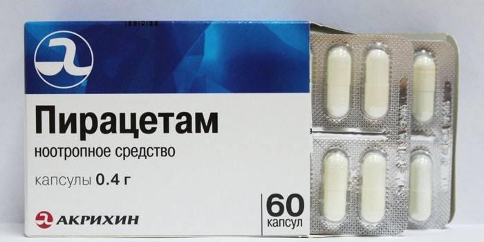 Таблетки Пирацетам в упаковці