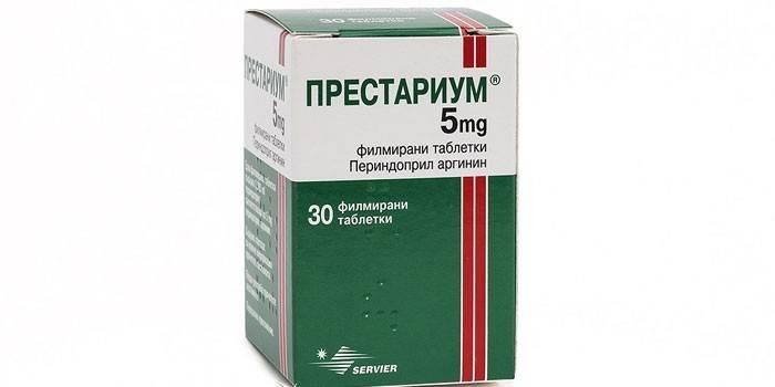 Таблетки ПРЕСТАРІУМ в упаковці