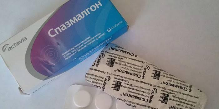 Таблетки Спазмалгон в упаковці