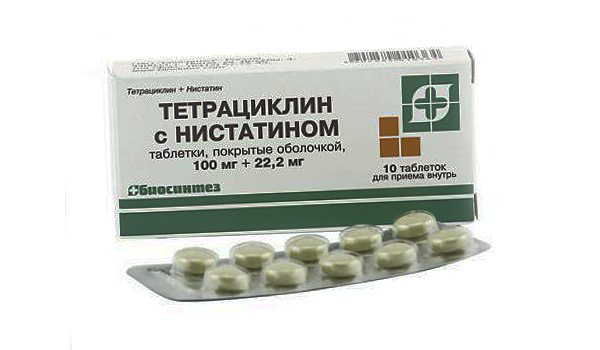 Таблетки Тетрациклін зністатин - інструкція із застосування