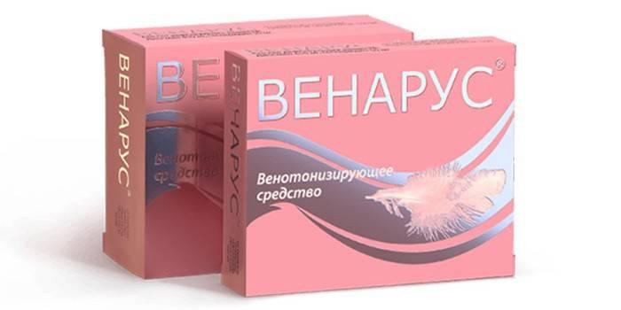 Таблетки Венарус в упаковці