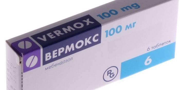 Таблетки Вермокс в упаковці
