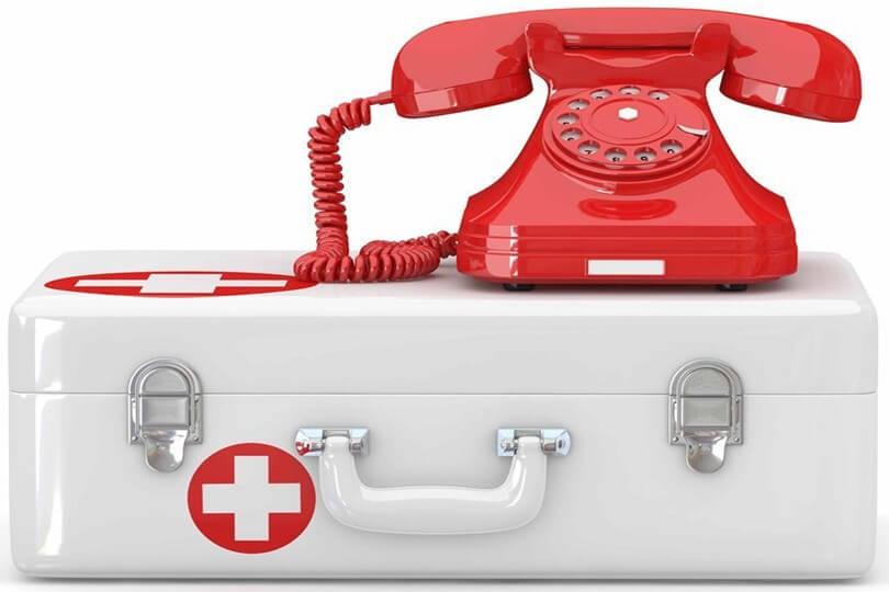 Телефон на аптечці