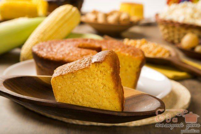 Торт з кукурудзяної муки