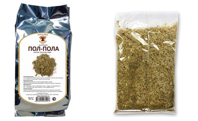 Трава і упаковка
