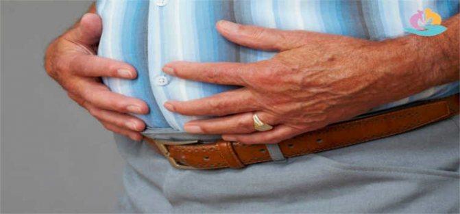 тяжкість і розпирання в області шлунка