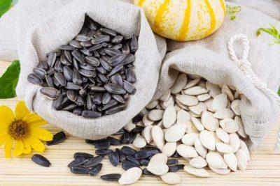 гарбузове та соняшникове насіння
