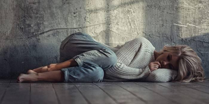 У дівчини депресія