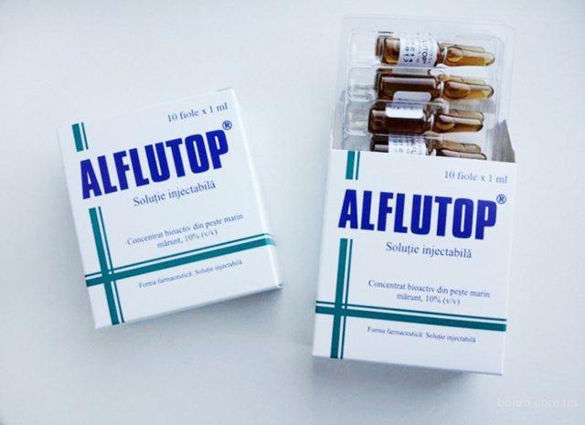 Вколи Алфлутоп: інструкція Із! Застосування, ціна, склад
