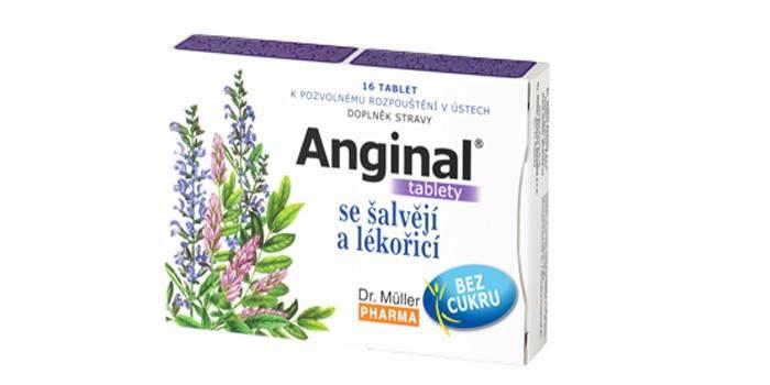 Упаковка препарату Ангінал