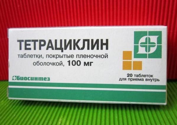 упаковка препарату тетрациклін