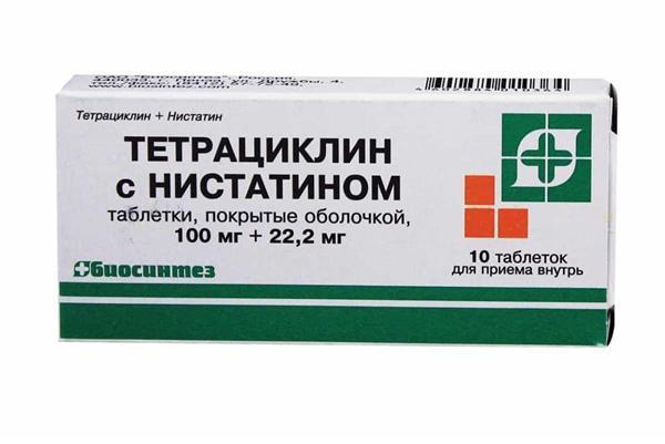 упаковка таблеток тетрациклін
