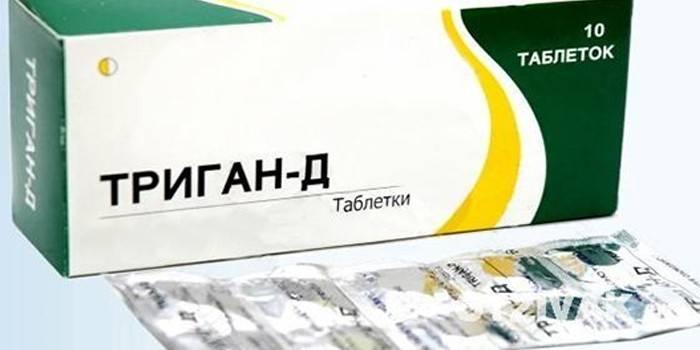 Упаковка таблеток Триган-Д в упаковці