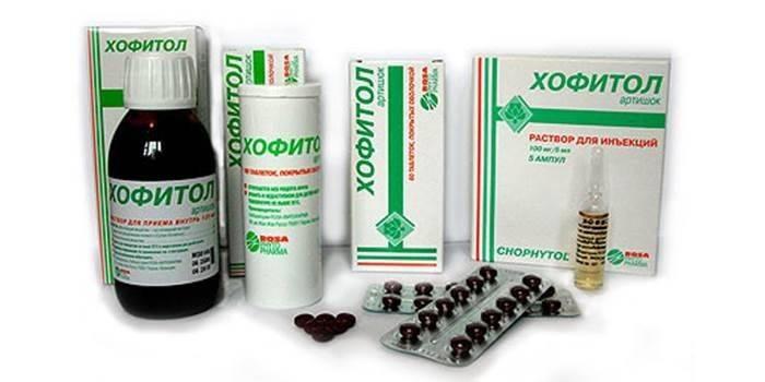 Упаковки препарату Хофітол в різніх формах випуску