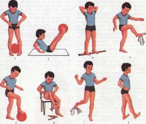 Вправи при плоскостопості для дітей
