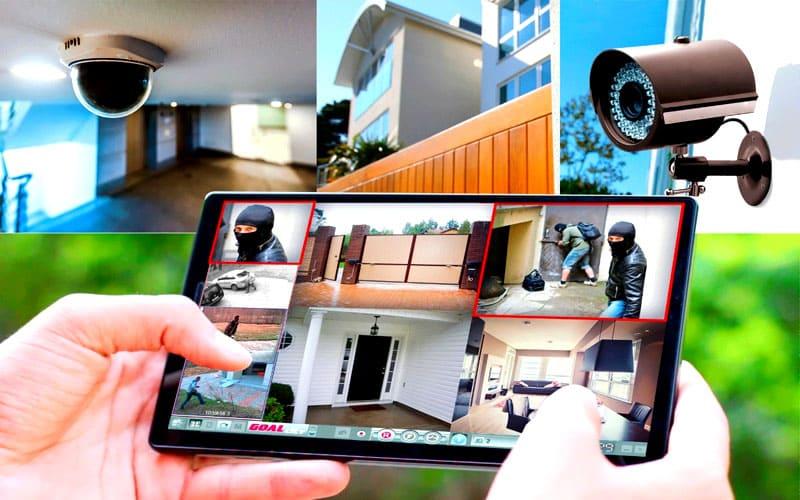 Внутреннее и внешнее видеонаблюдение для частного дома