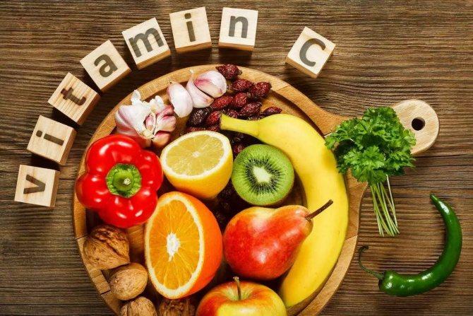вітамін c в продуктах
