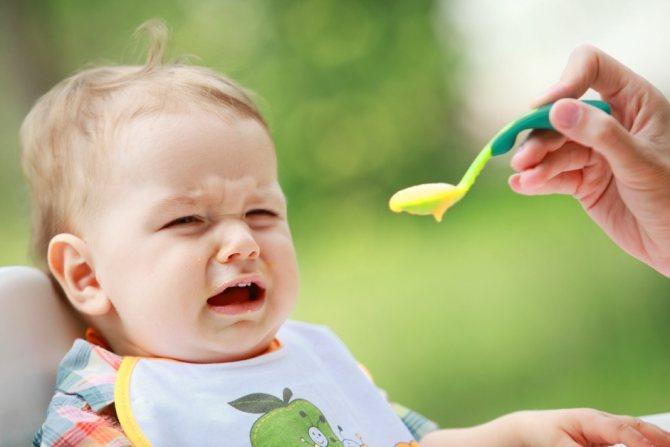 Во время прорізування зубів дитина может відмовітіся від їжі.