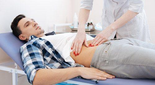 скарги на болі в області підшлункової